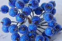 Сахарные ягодки 400 шт/уп.оптом синего цвета (калина в сахаре)