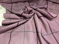 Объёмный розовый тёплый шарф  в клетку для мужчин и женщин