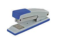 Степлер металлический на 20 листов (Скобы №24, 26), JOBMAX, синий