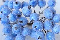 Сахарные ягодки 400 шт/уп.оптом голубого цвета (калина в сахаре)