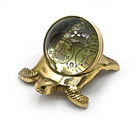 Черепаха бронзовая с янтрами (10х5,5х7 см) (metal sheet yantras)