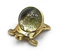 Черепаха бронзовая с янтрами (10х5,5х7 см) (metal sheet yantras), фото 1