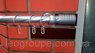 Карниз металлический одинарный Цилиндр сатин-2,4м