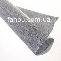 Креп бумага металлизированная серебро №802