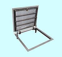 Напольный люк  600х600 под ламинат герметичный в пол, подвал, погреб на газовых амортизаторах, фото 1