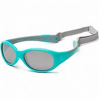 Koolsun Flex - Солнцезащитные очки (0-3 года), цвет бирюзово-серый
