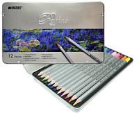 """Карандаши Цветные """"Raffine"""" 12 цветов в металлической упаковке 7100-12TN  Marco"""