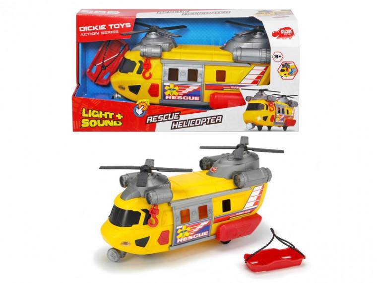 Функциональный вертолет Dickie Toys Служба спасения с лебедкой, звук. и свет. эффектами, 30 см, 3306004