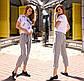 """Женские летние брюки до больших размеров 2030 """"Лён Полоска Бермуды"""" в расцветках, фото 2"""