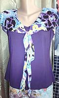 Женская летняя футболка с шифоном