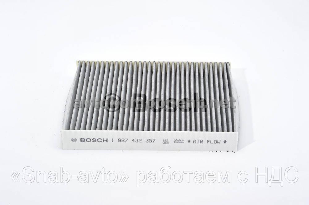 Фильтр салона SKODA FABIA угольный (производство Bosch) (арт. 1987432357), ABHZX