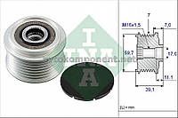 Механизм свободного хода генератора RENAULT (производство Ina) (арт. 535 0053 10), AEHZX
