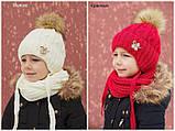 Зимовий теплий в'язаний шарф, фото 5
