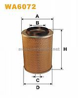 Фильтр воздушный Mercedes-Benz (MB) 100 WA6072/AM407/1 (производство WIX-Filtron) (арт. WA6072), ACHZX