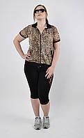 Модный женский леопардовый костюм