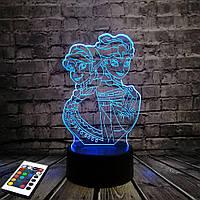 3D светильник с пультом 3D Lamp Холодное сердце (LP-2673), фото 1