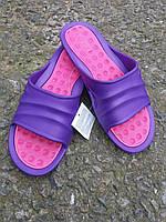 Женские шлепанцы двухцветные, фото 1