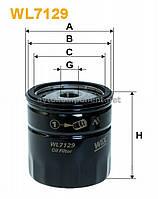 Фильтр масляный DAEWOO LANOS, CHEVROLET LACETTI, AVEO, NUBIRA WL7129/OP570 (производство WIX-Filtron) (арт. WL7129)