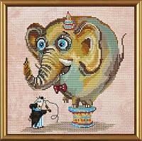 """Наборы для вышивания нитками и бисером """"Цирковой слон"""""""