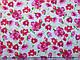 Коттон рисунок лето цветы, красные на белом, фото 2