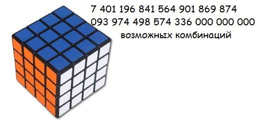 комбинаторика кубика рубика