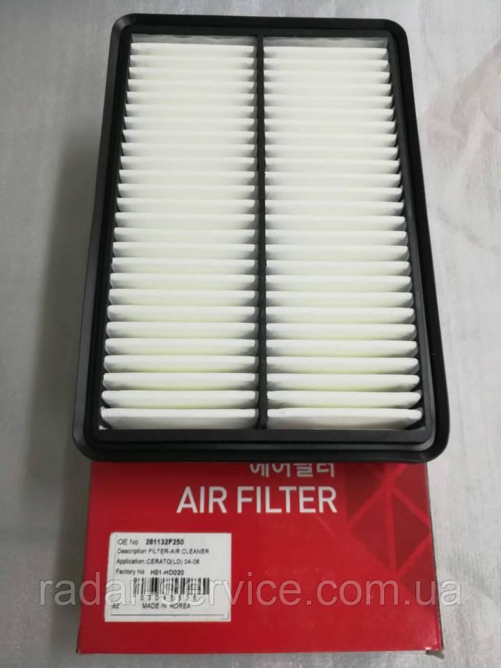 Фильтр воздушный киа Церато 1 2.0i, KIA Cerato 2004-2007 LD, H01-KA519, 281132f000