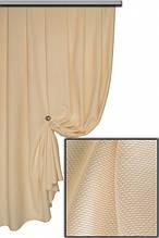 Портьерная ткань лён, цвет кремовый
