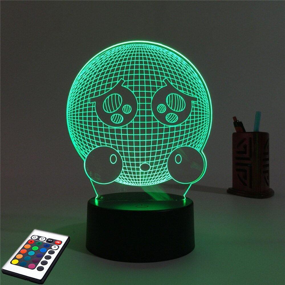 3D светильник с пультом 3D Lamp Емоджи (LP-2504)