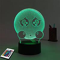 3D светильник с пультом 3D Lamp Емоджи (LP-2504), фото 1