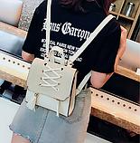 Рюкзак-сумка жіночий зі шнурівкою, фото 8