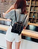 Рюкзак-сумка жіночий зі шнурівкою, фото 6