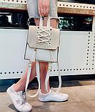 Рюкзак-сумка жіночий зі шнурівкою, фото 9