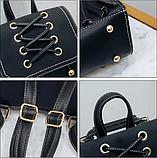 Рюкзак-сумка жіночий зі шнурівкою, фото 2