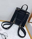 Рюкзак-сумка жіночий зі шнурівкою, фото 4