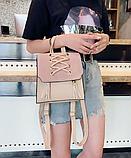 Рюкзак-сумка жіночий зі шнурівкою, фото 3