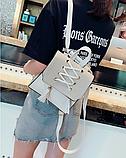 Рюкзак-сумка жіночий зі шнурівкою, фото 10