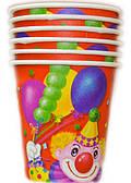 Стакан Клоун с шарами 1502-0464
