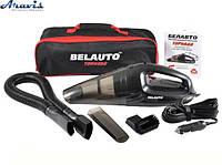 Автомобильный пылесос для машины Belauto BA53-B мощный сухая + влажная уборка