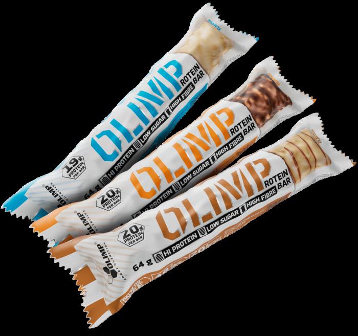 Протеиновый батончик OLIMP Protein Bar 64g арахисовое масло кофе