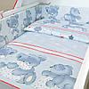 """Постельное белье в детскую кроватку """"Ведмедик"""" серый"""