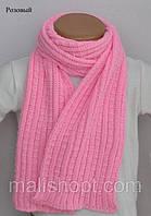 Шарф вязанный на шею, Розовый, фото 1