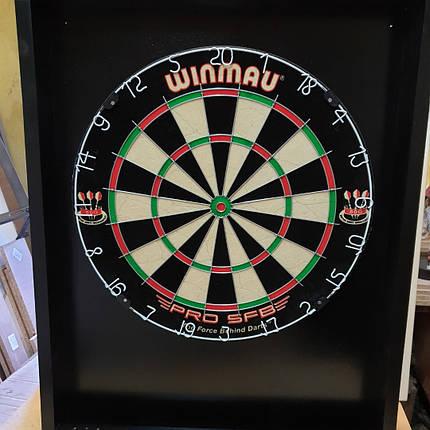 Дартс набор кабинет черный + мишень сизаль Winmau, фото 2