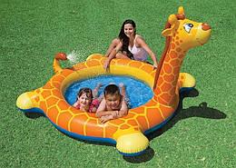 """Надувной детский бассейн Intex """"Жираф"""" 208х165х28х122 см"""