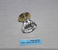 Ручка мебельная оргстекло  25мм золото