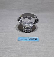 Ручка мебельная стекло  40мм хром