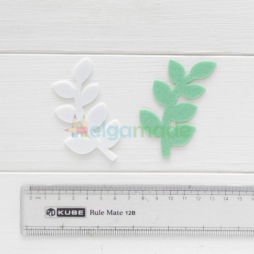 Шаблон пластиковый ЛИСТИК, 7.5 см