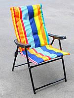 Складной стул-кресло на природу (для кемпинга или пикника, ширина 58 см, 110 кг), раскладной стул на дачу