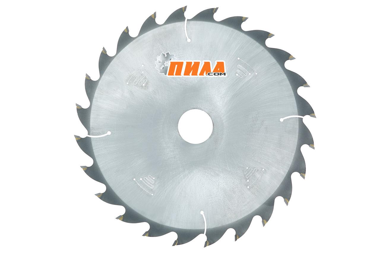 Пильний диск по дереву Ø300(315)*30(50) 24 зуба з твердосплавними напайками для поздовжнього пиляння