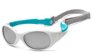Koolsun Flex - Солнцезащитные очки (3-6 лет), цвет бело-бирюзовый