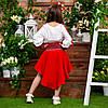 Червоний костюмчик для дівчинки Україночка, фото 3